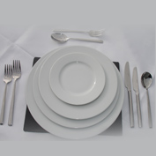 A full dinner set, perfect for weddings and other formal meals